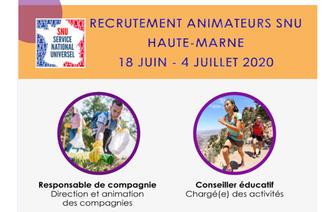Recrutement animateurs Service National Universel